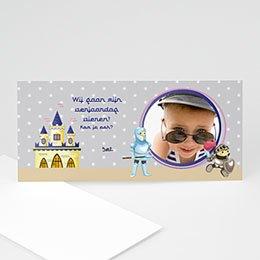 Aankondiging Verjaardag kind Ridder geeft feest