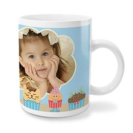 Personaliseerbare mokken Muffins en cupcakes, blauw