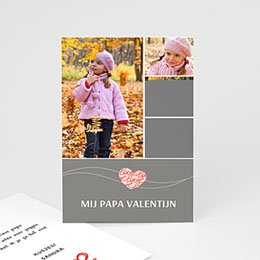 Aankondiging Verloving en Valentijn Valentijnskaartje grijs