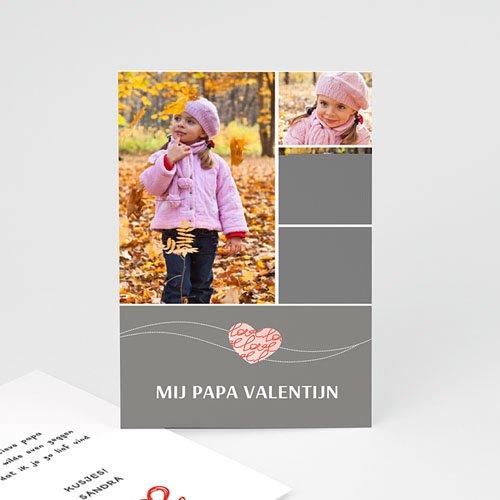 Valentijnskaarten - Valentijnskaartje grijs 10863 thumb