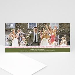 Bedankkaartjes huwelijk - Begin lente - 1
