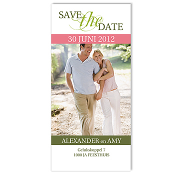 Save the date kaartjes - Begin lente - 1