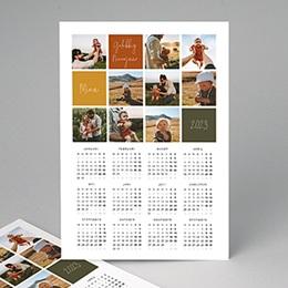Kalender jaaroverzicht - Uw kindje zijn eerste kerstwens - 2