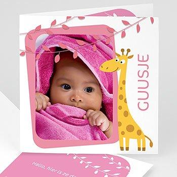 Geboortekaartje meisje - Zusje voor giraf - 1