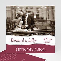 Uitnodiging Anniversaire mariage Bruiloftskaartje met foto