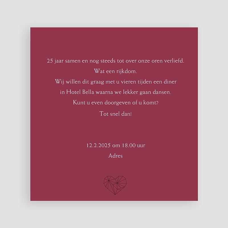 Jubileumkaarten huwelijk Bruiloftskaartje met foto pas cher