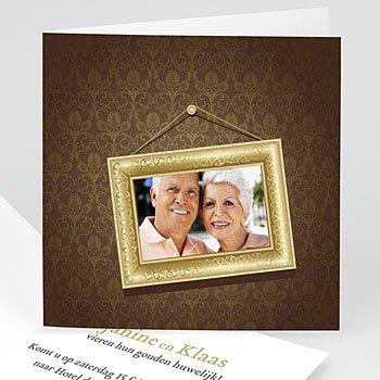 Jubileumkaarten huwelijk - Gouden bruiloft, 50 jaar huwelijk - 1