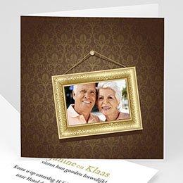 Uitnodiging Anniversaire mariage Gouden bruiloft, 50 jaar huwelijk