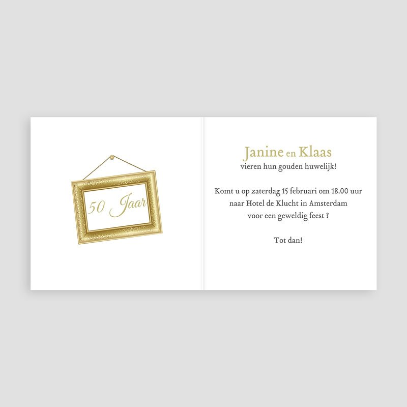 Jubileumkaarten huwelijk - Gouden bruiloft, 50 jaar huwelijk 10917 thumb