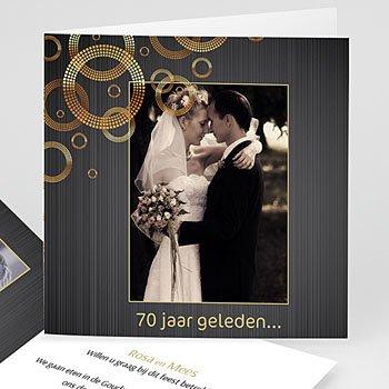 Jubileumkaarten huwelijk - 70 jarig huwelijk, platinum bruiloft - 1