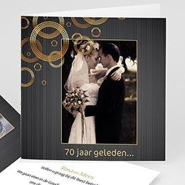 Uitnodiging Anniversaire mariage 70 jarig huwelijk, platinum bruiloft