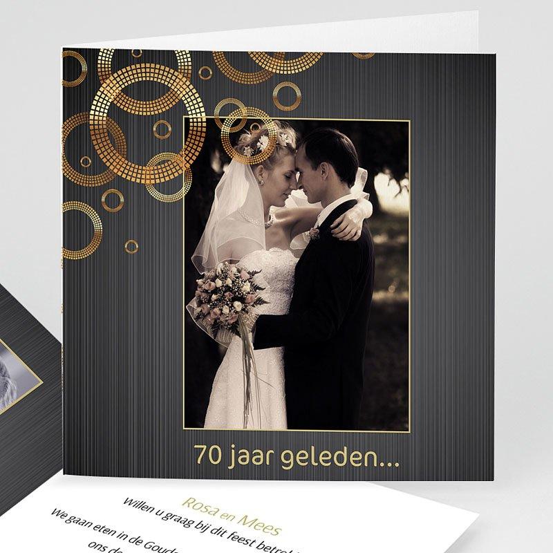 Bruiloft Uitnodigingen Verjaardag 70 jarig huwelijk, platinum bruiloft