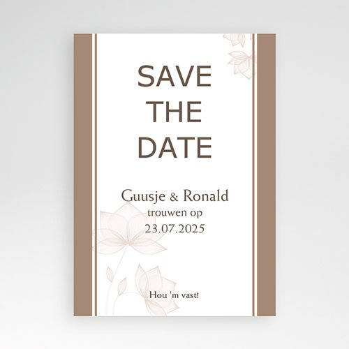 Save the date kaartjes - Pastel choco 10922 thumb