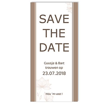 Save the date kaartjes - Pastel choco - 1