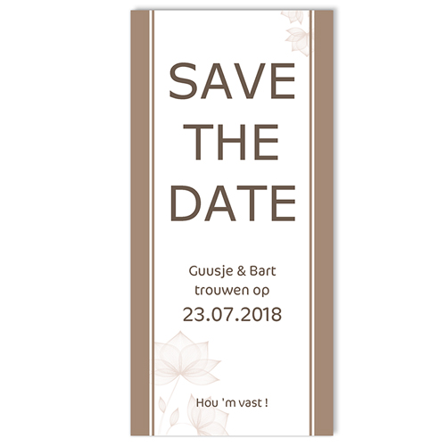 Save the date kaartjes - Pastel choco 10924 thumb