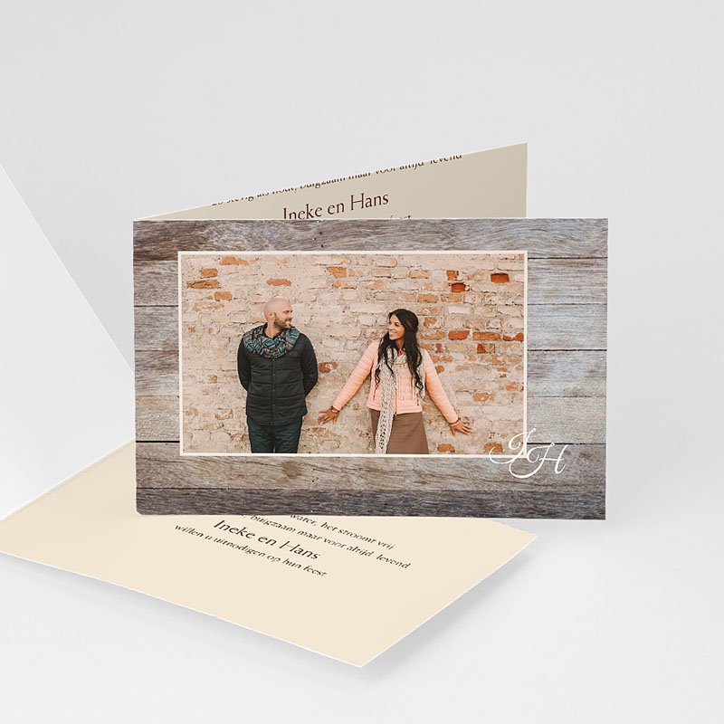 Bruiloft Uitnodigingen Verjaardag houten bruiloft, 5 jaar huwelijk