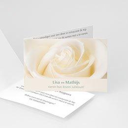 Uitnodiging Anniversaire mariage Jubileumkaart rozen