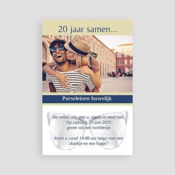 Jubileumkaarten huwelijk - 20 jaar getrouwd, porselein - 1