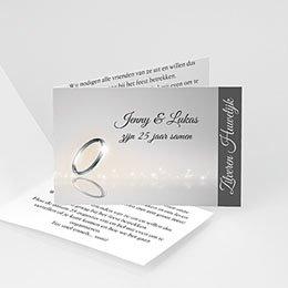 Uitnodiging Anniversaire mariage 25 jaar getrouwd