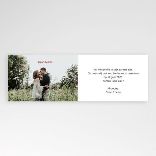 Jubileumkaarten huwelijk - Klaprozen uitnodiging 10939 thumb