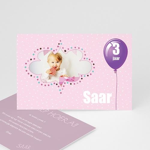Uitnodigingen Verjaardag Jongen Confetti roze