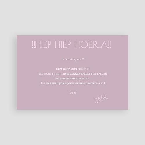 Uitnodigingen Verjaardag Jongen Confetti roze pas cher