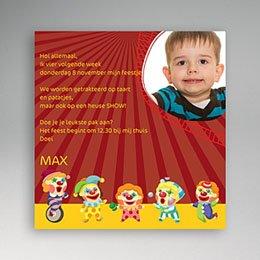 Uitnodiging Verjaardag kind Circusclown