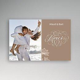 Bedankkaartjes huwelijk - Pastel choco - 1