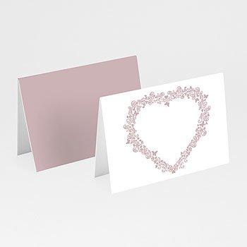 Personaliseerbare plaatskaartjes huwelijk - Love in taupe - 1