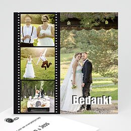 Bedankkaartjes huwelijk Op de film