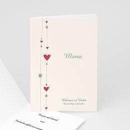 Personaliseerbare menukaarten huwelijk Hartgordijntje