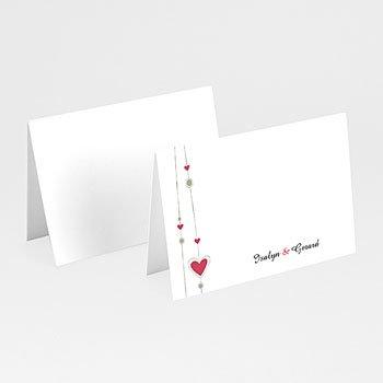 Personaliseerbare plaatskaartjes huwelijk - Hartgordijntje - 1