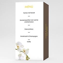 Personaliseerbare menukaarten huwelijk Witte orchidee