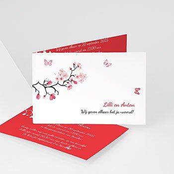 Personaliseerbare trouwkaarten - Magnolia roze - 1