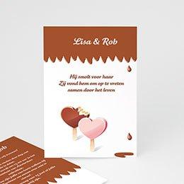 Originele trouwkaarten Gesmolten chocolade
