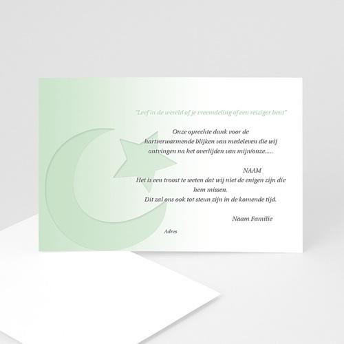 Bedankkaarten overlijden, Islamistisch - Overgang naar wit 11052 thumb