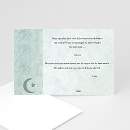 Bedankkaartjes Décès Musulman In memorium met foto, Islamistisch