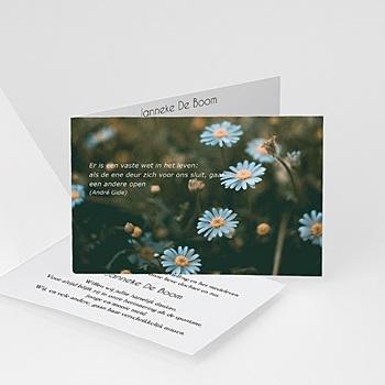 Universele rouwkaarten - Vallend bloemblad - 1