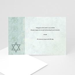 Bedankkaarten overlijden, Joods In memorium, Davidster