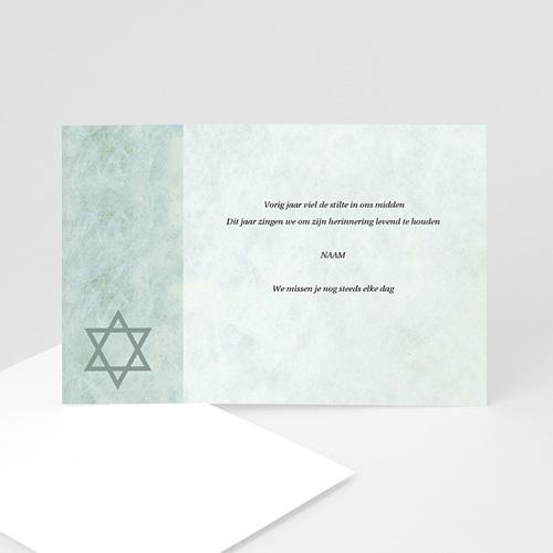 Overlijden Joods Bedankkaartjes In memorium, Davidster