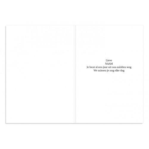 Bedankkaarten overlijden, Christelijk - Lichtgrijs met aronskelk 11085 thumb