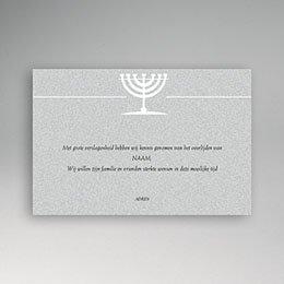 Condoleance Décès Juif Menorah graniet