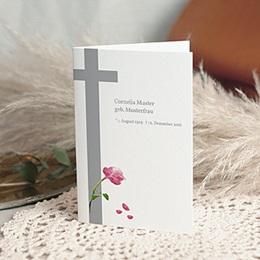 Condoleance Décès Chrétien Met rode roos