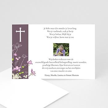 Bedankkaarten overlijden, Christelijk - Donkerpaarse verslagenheid - 1