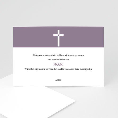Bedankkaarten overlijden, Christelijk - Modern geliefd 11110 thumb