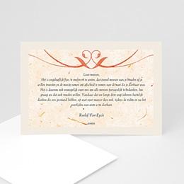 Universele rouwkaarten Papiervezels rood