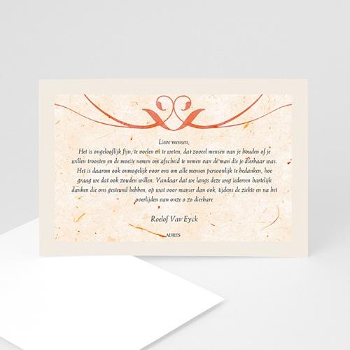 Universele Bedankkaartjes Overlijden Papiervezels rood