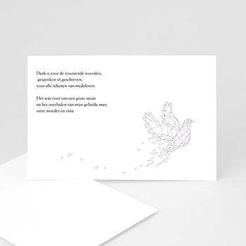 Universele rouwkaarten - Lila vredesduif - 1