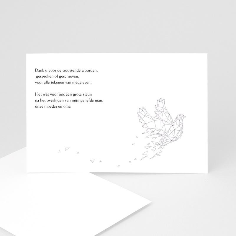 Universele rouwkaarten - Lila vredesduif 11126 thumb