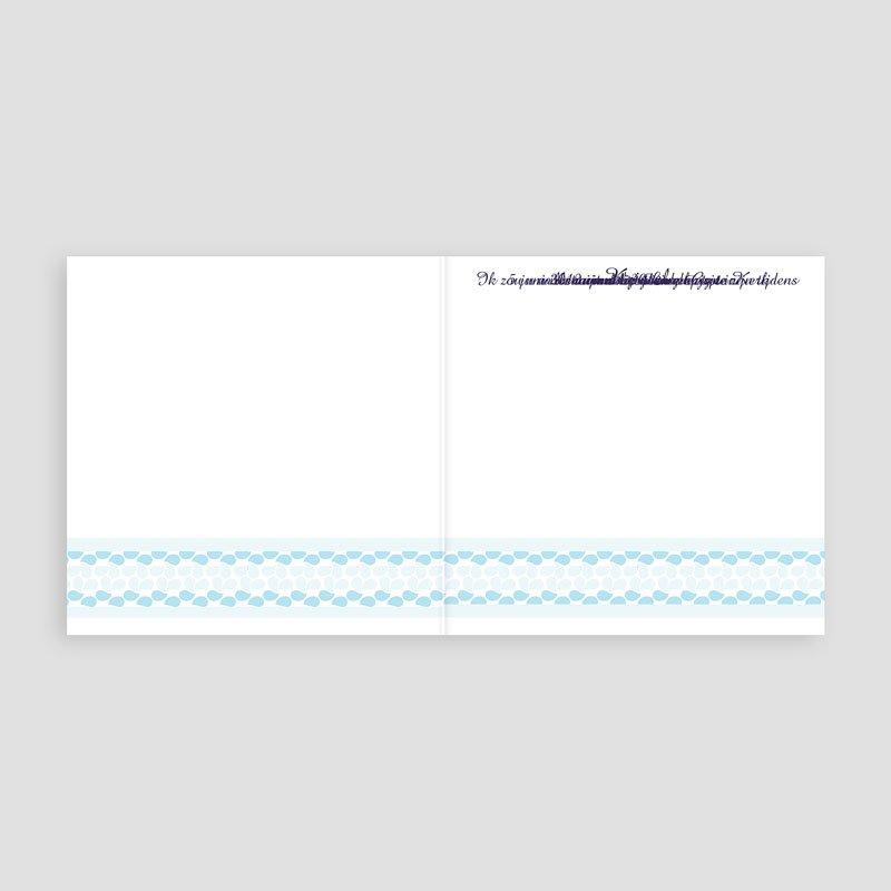 Doopkaartje meisje - Hemels blauw 11161 thumb
